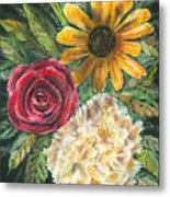 Flower Trio Metal Print