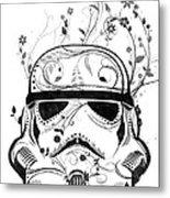 Flower Trooper Metal Print