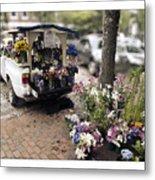 Flower Truck On Nantucket Metal Print