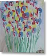 Flower Twists Metal Print