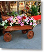 Flower Wagon Metal Print