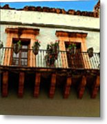 Flowered Balcony Metal Print