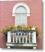 Flowered Italian Balcony Metal Print