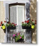 Flowered Window Metal Print