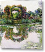 Flowering Arches, Giverny Metal Print