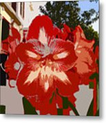Flowering Backyard Work Number 33 Metal Print