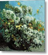 Flowering Branches And Flowers Metal Print