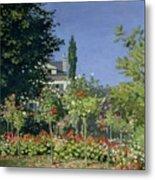 Flowering Garden At Sainte-adresse Metal Print