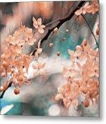 Flowering Tree. Nature In Alien Skin Metal Print