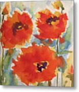 Poppies Wanted Metal Print
