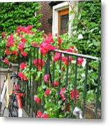 Flowers And Bikes Oh My Metal Print