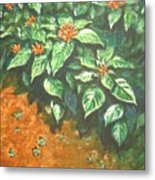 Flowers And Earth Metal Print