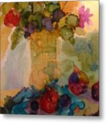 Flowers And Figs Metal Print