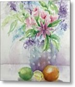 Flowers And Fruit Metal Print by Bobbi Price