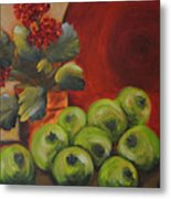 Flowers And Fruit Metal Print