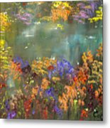 Flowers And Grasses IIi Metal Print
