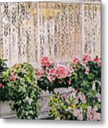 Flowers And Lace Metal Print by David Lloyd Glover