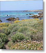 Flowers And Surf Metal Print
