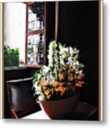 Flowers At Chenonceau Metal Print