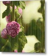 Flowers Behind The Screen Metal Print