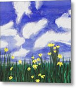 Flowers Bright Field Metal Print
