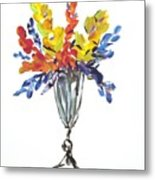 Flowers Clear Metal Print