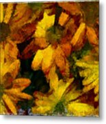 Flowers Confusion Metal Print