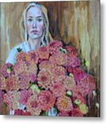 Flowers Didn't Fill Her Metal Print