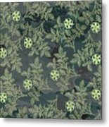 Flowers Fabric Print Design Metal Print