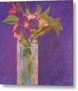 Flowers In A Vase After Manet Metal Print