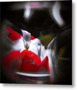 Flowers In Abstract Metal Print