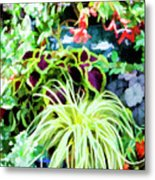 Flowers In Garden 3 Metal Print