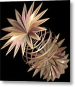 Flowers In Pink Metal Print
