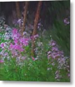 Flowers In The Woods Metal Print