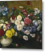 Flowers In Three Vases 1879 Metal Print