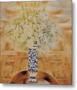 Flowers In Vase-leisure Metal Print