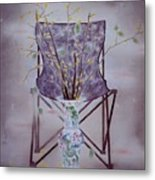 Flowers In Vase-tranquility Metal Print
