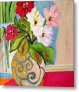 Flowers In Vases Metal Print