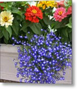 Flowers Of Blue Metal Print
