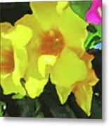 Flowers On Deck Metal Print