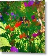 Flowers On Display As Abstract Art Metal Print