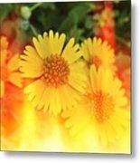 Flowers On Fire Metal Print