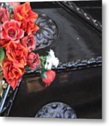 Flowers On Gondola In Venice Metal Print