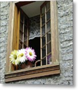 Flowers On The Sill Metal Print