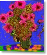 Flowers On The Table Metal Print