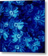 Flowers On Tiles Metal Print