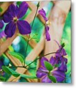 Flowers Purple Metal Print