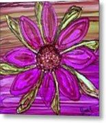 Flowerscape Dahlia Metal Print