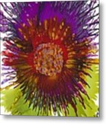 Flowerscape Thistle Metal Print