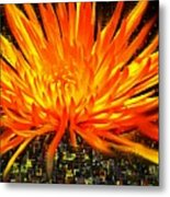 Flowersquared Metal Print